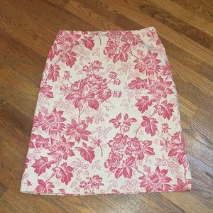 Gorgeous EUC J.Crew Floral Skirt